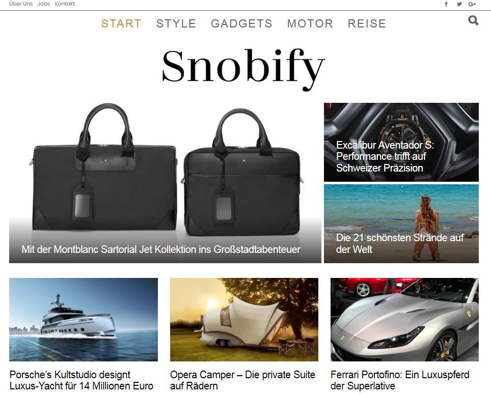 Snobify - Luxus Lifestyle Magazin